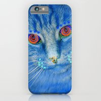 iPhone & iPod Case featuring Magic Blue Cat by Cat Kitsch