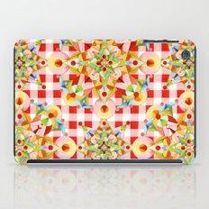 Red Gingham Pastel Mandala iPad Case