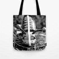 Metallic Snail Tote Bag