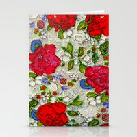 the garden of roses Stationery Cards