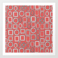 Picture Frames Coral Art Print