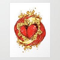 Circle of fire Art Print