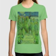 Monets Garden At Vetheui… Womens Fitted Tee Grass SMALL
