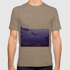 Lulworth Cove Mens Fitted Tee Tri-Coffee SMALL