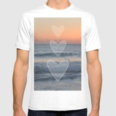 Dusk or Dawn SMALL White Mens Fitted Tee
