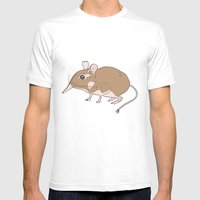Elephant Shrew Mens Fitted Tee White SMALL