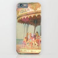 iPhone Cases featuring Circling Horses by Cassia Beck