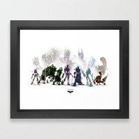 Gears Linup Framed Art Print