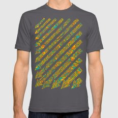 Arrows Map Mens Fitted Tee Asphalt SMALL