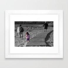 On The Beach Framed Art Print