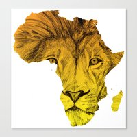 Canvas Print featuring King Of The Jungle! by DeMoose_Art
