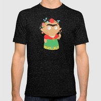 Frida Kahlo Mens Fitted Tee Tri-Black SMALL