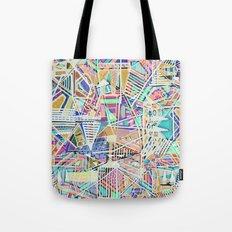 Geometric Abstract Lines Labirinth  Tote Bag