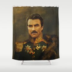 Tom Selleck - replaceface Shower Curtain