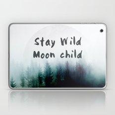 Stay wild moon child watercolor Laptop & iPad Skin