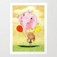 balloon Art Prints featuring balloon by José Luis Guerrero