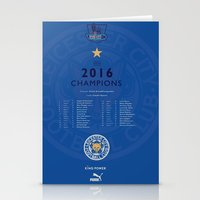 Tribute to Leicester Football Club - 2016 Premier League Champions, BLUE version Stationery Cards