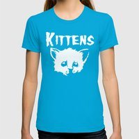Goth Kittens Womens Fitted Tee Teal SMALL
