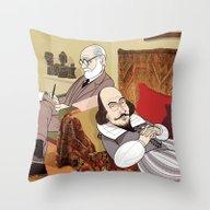 Freud Analysing Shakespe… Throw Pillow