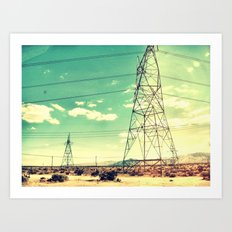 On the road to Vegas Art Print