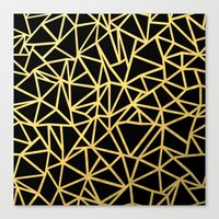 Abstract Outline Thick G… Canvas Print