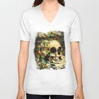 floral skully 2 Unisex V-Neck