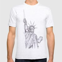 C3PO Liberty Mens Fitted Tee Ash Grey SMALL