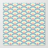rainbowaves pattern (light) Canvas Print