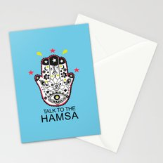 talk to the Hamsa Stationery Cards