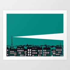 Paris La Nuit Art Print