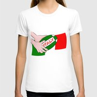 italy T-shirts featuring Rugby Italy by mailboxdisco