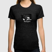 The Washington Whale Womens Fitted Tee Tri-Black SMALL