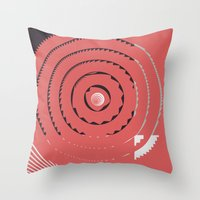 Red Abstract Geometrical Throw Pillow