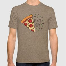 Pizza guy Mens Fitted Tee Tri-Coffee SMALL