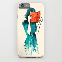 iPhone Cases featuring Lost in a book by Budi Kwan