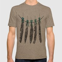 Feather Bunting 2 Mens Fitted Tee Tri-Coffee SMALL