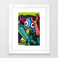 Artsy Bot Framed Art Print