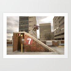 Bam Margera - 7 Bank Art Print