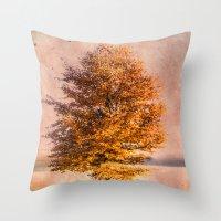 A Sunny Autumn Day Throw Pillow