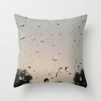 Throw Pillow featuring Rain by Whitney Retter