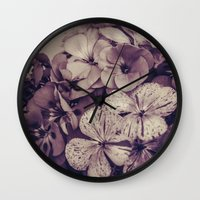 Geraniums -- Monochrome … Wall Clock