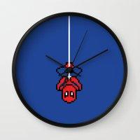 Spider-Pixel Wall Clock