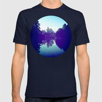 Reflection Mens Fitted Tee Navy SMALL