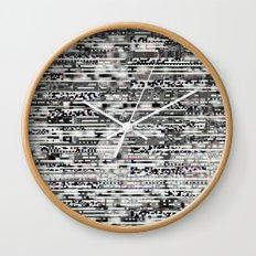 Removing Filters (P/D3 Glitch Collage Studies) Wall Clock