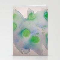 Lime Burst Stationery Cards