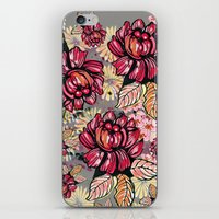 Roses and cherry blossom pattern iPhone & iPod Skin