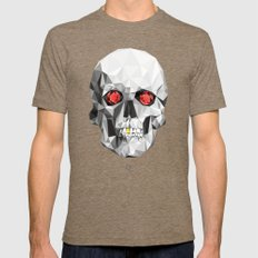 Geometric Eye Candy Mens Fitted Tee Tri-Coffee SMALL