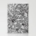 Detailed rectangle, black and white  Stationery Cards