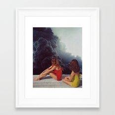 SUNBATHING Framed Art Print