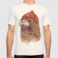 River Otter Mens Fitted Tee Natural SMALL
